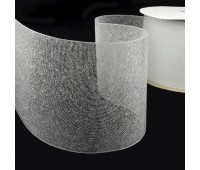 Люверсная термоклеевая лента прозрачная 10 см (50 м)