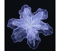 Прищепка для штор цветок белый большой JX101573-0 (уп. 6 шт.)