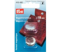 Магнитная застежка для сумок Prym 416480 19 мм серебристая