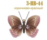 Украшение для штор бабочка большая красно-коричневая 3-HB-44 (5 шт)