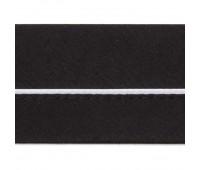Корсажная лента сложная 2.1.СК черная с белым кантом (уп. 50 м)