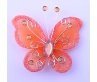 Украшение для штор Бабочка оранжевый HJH89572-1 (уп. 6 шт)