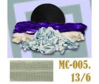Эластичная отделочная лента 13/6 (4) MC-005 грязно-серая (50 ярд)