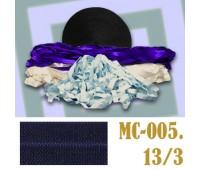 Эластичная отделочная лента 13/3 (12) MC-005 темно-синяя (50 ярд)