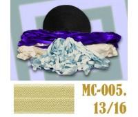 Эластичная отделочная лента 13/16 (8) MC-005 светло-желтая (50 ярд)