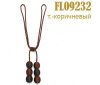 """Подхваты для штор """"шнур-шары"""" FL09232-3 темно-коричневые (уп. 6 шт)"""