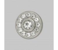 Пуговица со стразами 3151 серебро (10 шт)