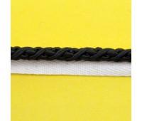 Кант шторный (искусственный шёлк) SHK20-9 черный (25 м)