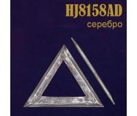 Заколка для штор дерево Треугольник HJ8158AD серый (4 шт)