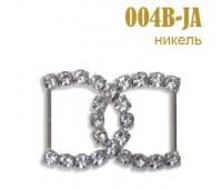 Пряжка со стразами 004B-JA серебро