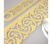 Комплект ажурных ламбрекенов светлое золото П001-25-02, длина 2,5 м