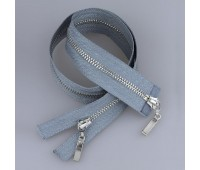 Молния металл 2-замка разъемная 60 см T5 (прямой) никель/серый (GCC316)