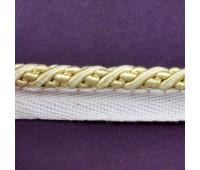 Кант шторный (искусственный шелк) SHK20-6 светлое золото (25 м)
