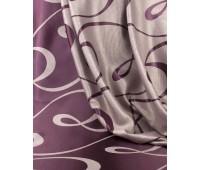 Ткань для штор блэкаут софт 2-х сторонний с рисунком WZGA3009-119 фиолетовый/пудра (25 м± )