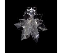 Прищепка для штор хризантема из страз HJ87953-1 Crystal (2 шт)