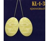 """Магниты для штор """"овал"""" KL-1-3 кремовые (уп. 2 шт.)"""