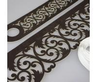 Комплект ажурных ламбрекенов темно-коричневый П001-25-13, длина 2,5 м