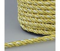 Шнур витой SH17-3 золото/белый (50 м)