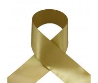 1111UN Лента атласная 50 мм светлое золото (33 м)