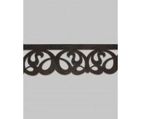 Ламбрекен ажурный П018-13 темно-коричневый (20м±)