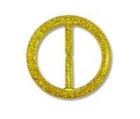Пряжка из смолы 244G-2 золото (20 шт)