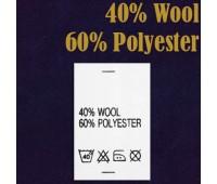 Состав ткани 40% Wool 60% Polyester (500)