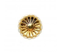 Пуговицы для шуб A106 (38 мм) золото/белый (5 шт)