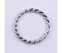 Кольцо плетенное L9351 никель 40/50 мм