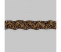 Сутаж отделочный M-1-1 коричневый (12 м)