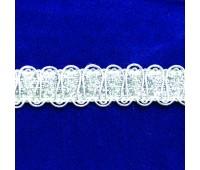 Тесьма шторная AF1-10 серебро (12,80 см)