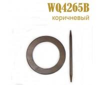 Заколка для штор дерево Круг WQ4265B темно-коричневый (4 шт)